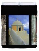 Santorini Memories Duvet Cover