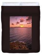 Santorini Sunset Duvet Cover