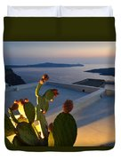 Santorini.fira Sunset Duvet Cover