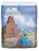 Santurario De Guadalupe Duvet Cover