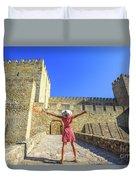 Sao Jorge Castle Tourist Duvet Cover