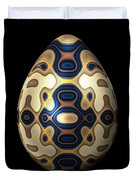 Sapphire And Gold Imperial Easter Egg Duvet Cover
