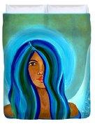 Sapphire Angel Duvet Cover