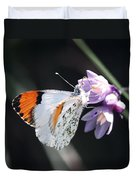 Sara Orange-tip On Wild Hyacinth Duvet Cover