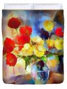 Sara's Colorful Bouquet  Duvet Cover