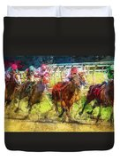 Saratoga Frenzy Duvet Cover