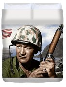 Sargent Stryker U S M C  Iwo Jima Duvet Cover