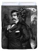 Satan Tempting John Wilkes Booth Duvet Cover
