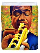 Satchmo, Louis Armstrong Painting Duvet Cover