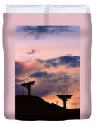 Satellite Sunset Duvet Cover