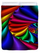 Satin Rainbow Duvet Cover