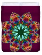 Satin Rainbow Fractal Flower II Duvet Cover
