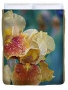 Saturated Iris Duvet Cover