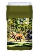 Saturday Morning Ride Duvet Cover