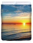Sauble Beach Sunset 4 Duvet Cover