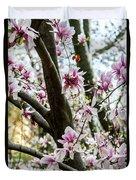 Saucer Magnolias In Central Park Duvet Cover
