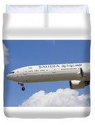 Saudi Arabian Airlines Boeing 777 Duvet Cover