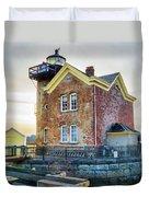Saugerties Lighthouse Duvet Cover by Nancy De Flon