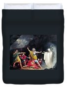 Saul & Witch Of Endor Duvet Cover