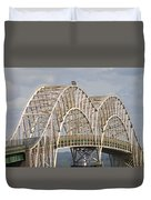 Sault Ste Marie International Bridge Arch Duvet Cover by Danielle Allard