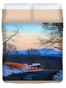 Sauratown View In Winter Duvet Cover