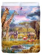 Savannah Animals Duvet Cover