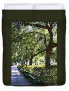 Savannah Benches Duvet Cover