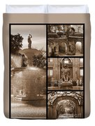 Savannah Landmarks In Sepia Duvet Cover
