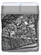 Savannah Perspective - Black And White Duvet Cover