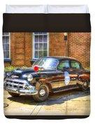 Savannah Police Car 1953 Chevrolet  Duvet Cover