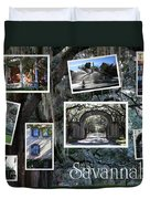 Savannah Scenes Collage Duvet Cover