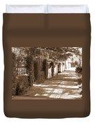 Savannah Sepia - Sunny Sidewalk Duvet Cover