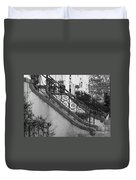 Savannah Stoops - Black And White Duvet Cover