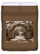 Savannaha Sepia - Wormsloe Plantation Gate Duvet Cover