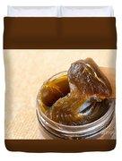 Savon Noir Black Soap Portion Duvet Cover