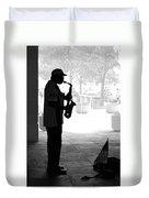 Sax Man Duvet Cover