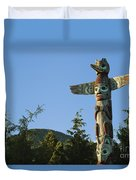 Saxman Totem Park Duvet Cover by Greg Vaughn - Printscapes