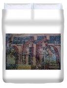 Saxon Medieval Frescoes, Transylvania Duvet Cover