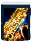 Saxophone 2 Duvet Cover by Hakon Soreide