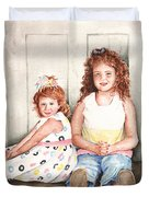 Sayler And Tayzlee Duvet Cover