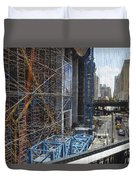 Scaffolding In The City Duvet Cover