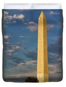 Scaling The Washington Monument Duvet Cover