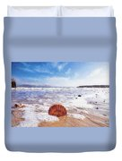 Scallop Shell On The Beach - Impressions Duvet Cover