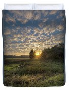Scalloped Morning Skies Duvet Cover