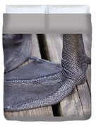 Scaly Canadian Goose Foot - No1 Duvet Cover