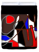 Scandal In Bohemia Original Abstract Expressionism Art Painting Duvet Cover