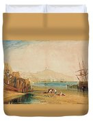 Scarborough Town And Castle Duvet Cover
