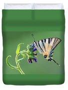 Scarce Swallowtail Duvet Cover