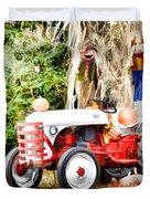 Scarecrow And Pumpkins 2 Duvet Cover