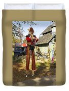 Scarecrow Walking On Stilts Duvet Cover